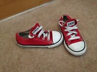 Kids red converse size 10
