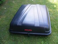 Black Lockable Car Top Box - Excellent Condition - Ideal for camping holidays