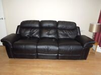 Free - 2 leather sofas - 3 seat and 2 seat