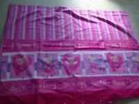 Girls single quilt cover and pillowcase