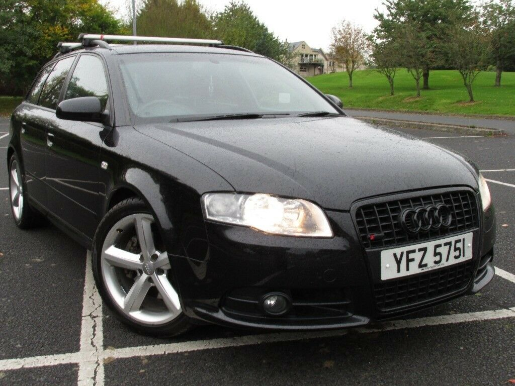 March 2008 Audi A4 2.0TDi S-Line Estate 6 speed manual in Metallic Black