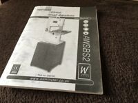 Free manual for an Axminster small bandsaw AWSBS2