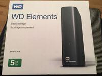 WD Elements 5TB External Hard Drive 5000GB NEW