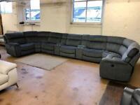Harvey's huge brand new power electric recliner modular corner sofa