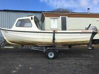 Orkney Coastliner 440 Fishing Boat & Mariner 9.9 4 Stroke, & Trailer