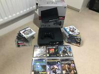 PS3 Slim 320gb boxed with 20 plus games
