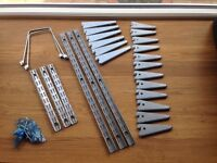 Elfa shelving system, platinum finish