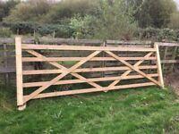 Charltons Highgrove 5 Bar Field Gate farm 12 ft entrance equestrian UNIVERSAL,TREATED,fence,fencing