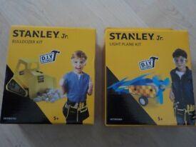 Brand New - Stanley Jr Bulldozer & Light Plane Kit - Age 5+ - £2 each