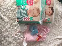 Baby bundle nappies for sheet milk storage pots ect