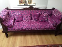 Indian hand carved sofa