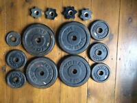 York mixed weights and lifting bar