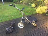 Motocaddy S3 Pro electric trolley with Cart bag and Accessories