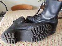 Black army/cadet boots size 9