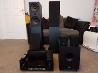 Home Cinema, 5.1 surround sound, Speakers and Sub Woofer. Pioneer, Q-Acoustics North belfast area.
