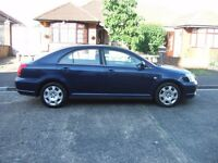 2005 TOYOTA AVENSIS 1.8 VVT -T2, 5 DOOR METALLIC BLUE, PETROL, MOT MAY 2018