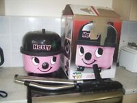 NUMATIC PINK HETTY HENRY HOOVER 1200W TWIN SPEED WITH HOSE PIPES AND FLOOR HEAD
