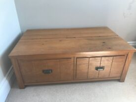 Coffee table and TV stand, solid wood