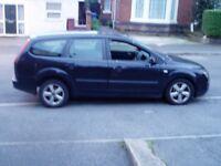 Breaking 2005 Ford Focus 1.6 Tdci Estate. Black. Door tailgate seat alloy wheels radio