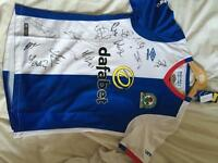 Signed Blackburn rovers football shirt