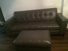 3seater settee and footstool