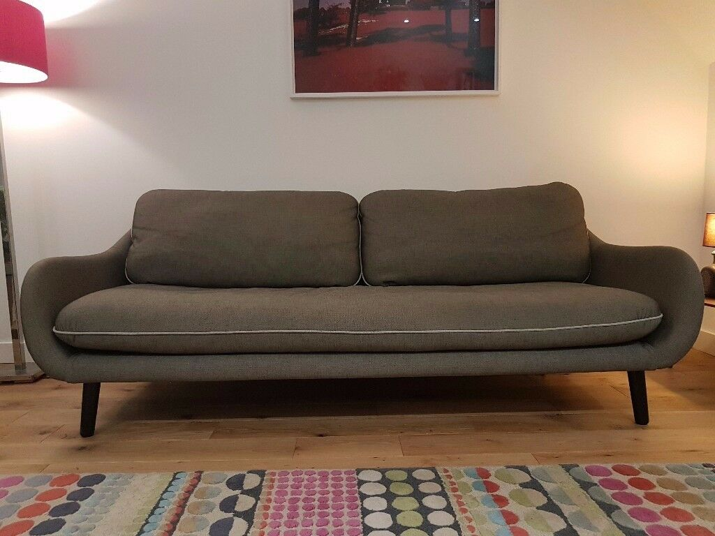 Habitat Mid Century Vintage Retro Style Sofa For Sale