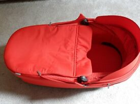 STOKKE carrycot in red suitable for Crusi & Trailz - excellent condition