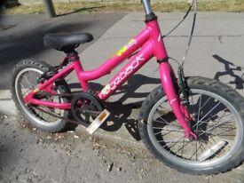"""Ridgeback Girls Bike.... 16"""" wheels"""
