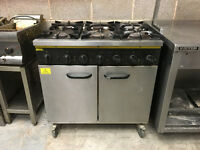 Buffalo 6 ring LPG hob and oven