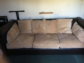Real Leather Sofa with material cushions