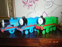 Thomas the Tank Engine and Friends battery-run train set and track along with book