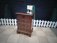 MAHOGANY SIDE CABINET WITH 4 DRAWERS BEAUTIFUL STYLE AND IN EXCELLENT CONDITION 45/33/64 cm £30
