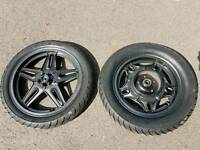 CX 500 Comstar front and rear wheels with tyres