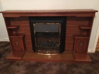 Electric retro fireplace