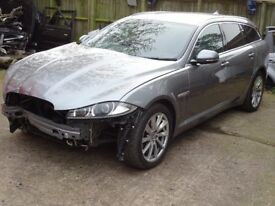 BREAKING FOR PARTS:JAGUAR XF Sportbrake LUXURY 2993cc Diesel Automatic 8 Speed 5 Door 241BHP 2013