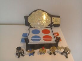Small Wrestling Ring and Accessories