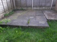 8 x 2ft by 2ft used flagstones