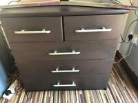Chest drawer and side cabinet