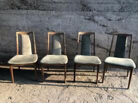 4 X Set Of G Plan Fresco Teak Wood Dining Chairs For Up cycling