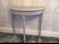 Paris grey side table hall table shabby chic annie sloan stunning item very solid