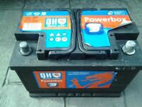 QUINTON HAZELL 72 AMP HOUR CAR OR VAN BATTERY NEARLY NEW.