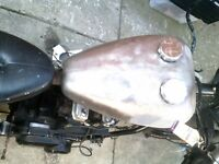 500cc hard tail chopper project to swap