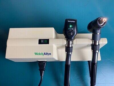 Welch Allyn Wall Transformer Otoscope 23810 Ophthalmoscope 11720 Diagnostic Set