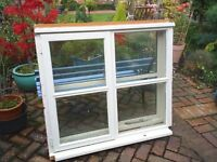 2 x used Cottage style 4 pane double glazed windows with locks and key in softwood