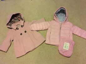 2 girls coats age 18-24 months