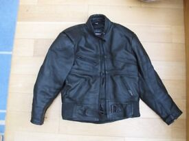 Lady's woman's leather motorcycle jacket size 16
