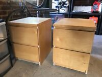 Two Ikea bedside tables for sale