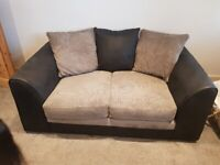 Used 3 and 2 seater sofa + Foot rest