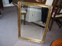 Mirror, gold colour frame