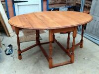 Restored Antique Oak drop leaf table